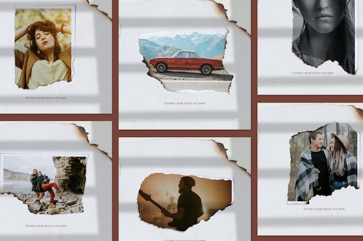 Thumbnail for Paper torn & burn photo templates