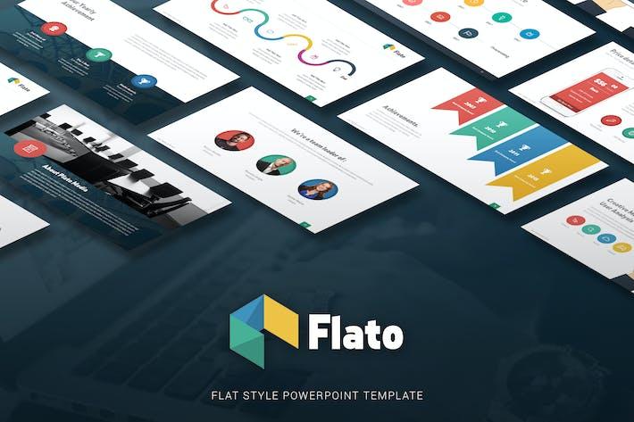 Thumbnail for Flato - Flat Multipurpose Powerpoint Template
