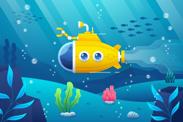 Cute Yellow Submarine - product preview 0
