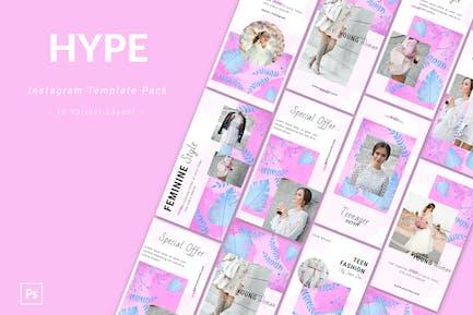 Hype - Pack de Modèle Instagram