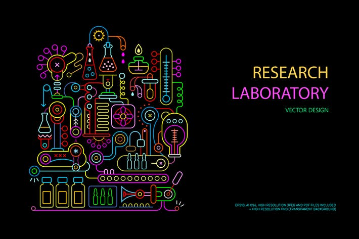 Thumbnail for Research Laboratory Equipment vector illustrations