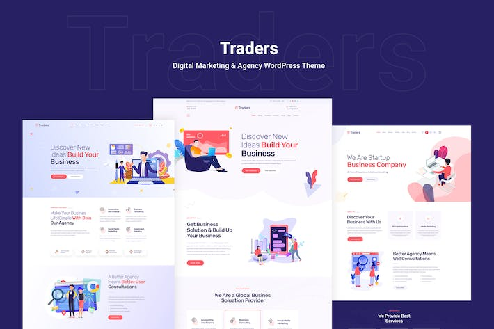 Thumbnail for Traders - Digital Marketing & Agency WordPress