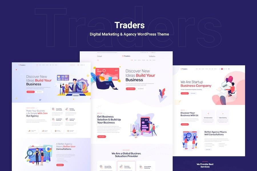 Traders - Digital Marketing & Agency WordPress