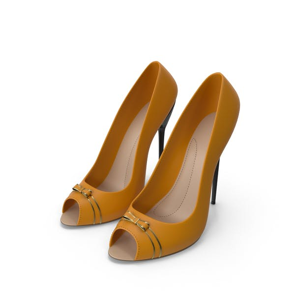 High Heels Women's Shoes Orange