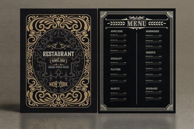 Vintage Restaurant Menu - product preview 0