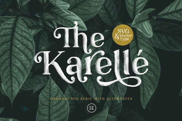 Thumbnail for Karelle SVG - Un Con serifa orgánico