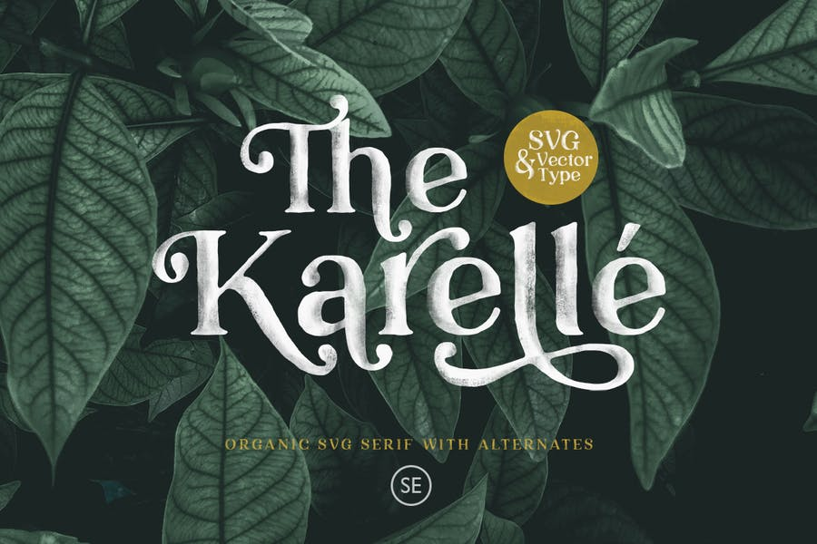 Karelle SVG - An Organic Serif