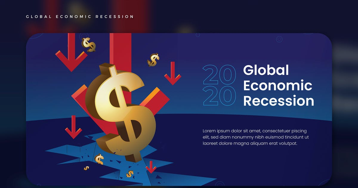 Download Global Economic Recession Vector Illustration by SlideWerk