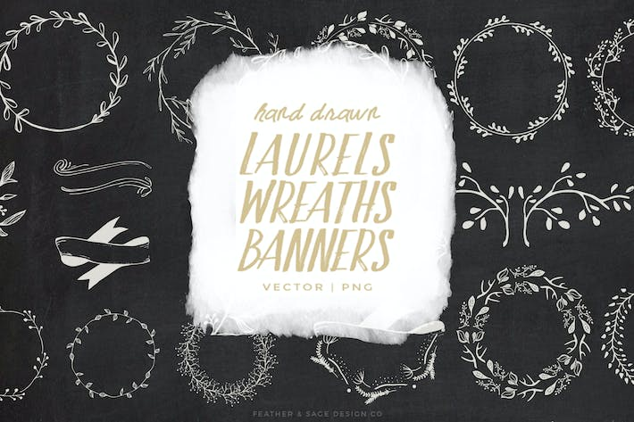 Thumbnail for Laurels, Wreaths, & Banners Illustrations