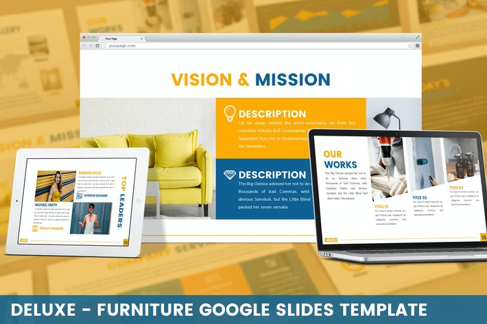 Thumbnail for Deluxe - Furniture Google Slides Template