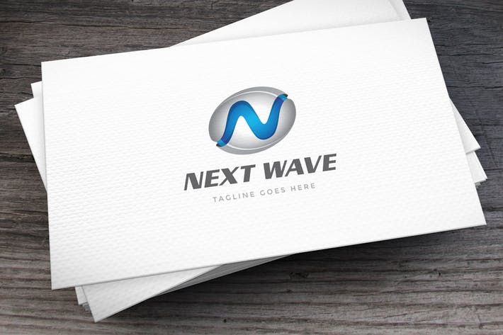 Thumbnail for Next Wave Letter N Logo Template
