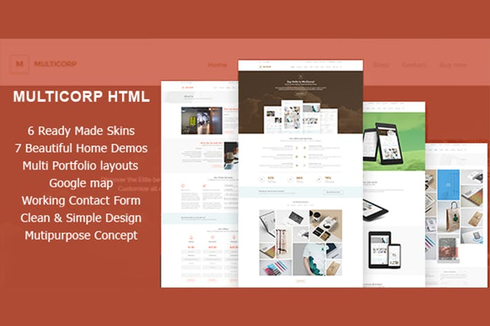 Thumbnail for Multicorp - Clean Agency HTML Theme
