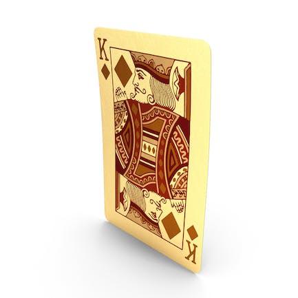 Goldene Spielkarten König der Diamanten