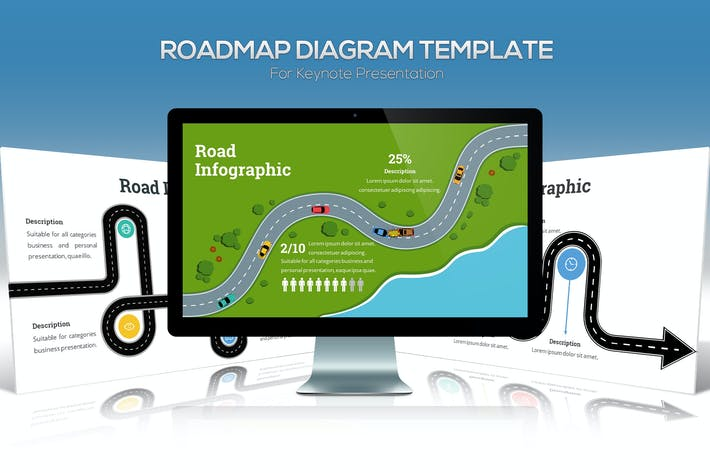 Cover Image For Roadmap Diagram For Keynote Presentation