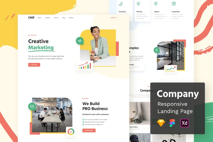 Thumbnail for Company Responsive Landing Page