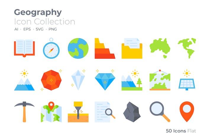 Geographie-Farbsymbol