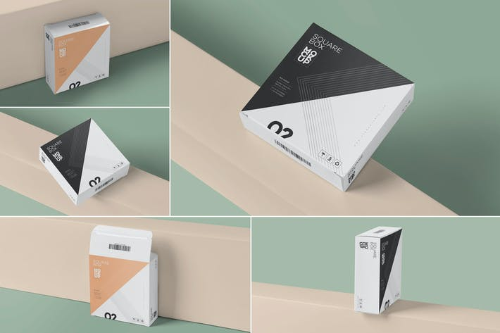 Thumbnail for Square Shaped Slim Box Mockups