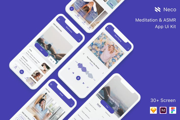 Thumbnail for Neco - Meditation App Ui Kit