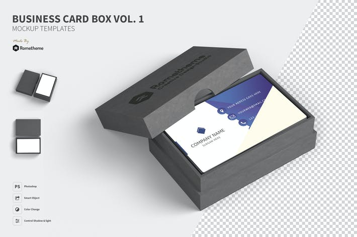 Thumbnail for Business Card Box Mockups vol. 01 FH