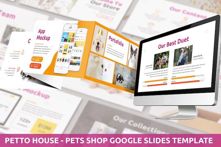 Thumbnail for Petto House - Pet Shop Google Slides Template