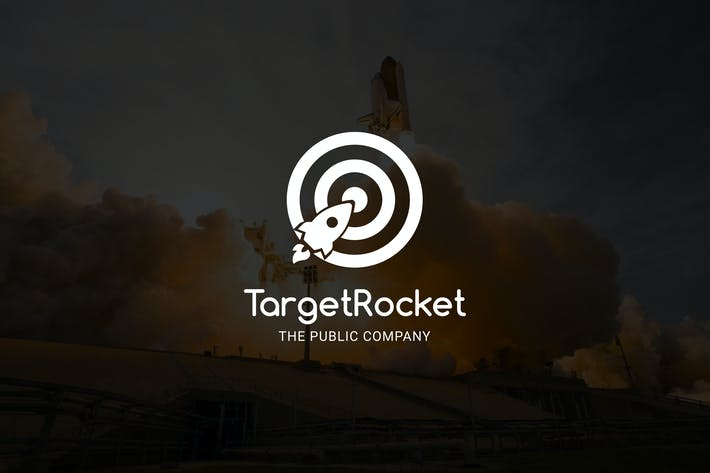 Thumbnail for TargetRocket : Negative Space Rocket Logo