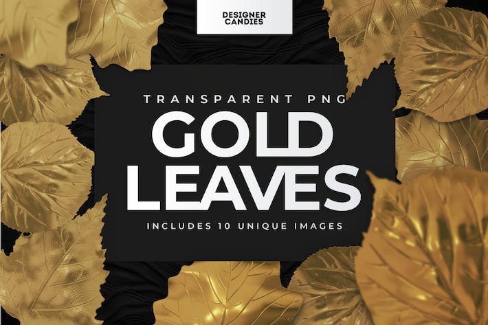 Gold Leaves PNGs