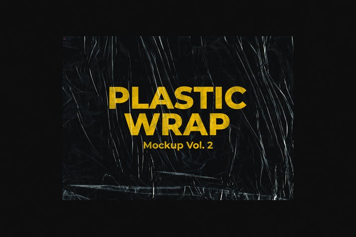Cover Image For Plastic Wrap Mockup Vol.2