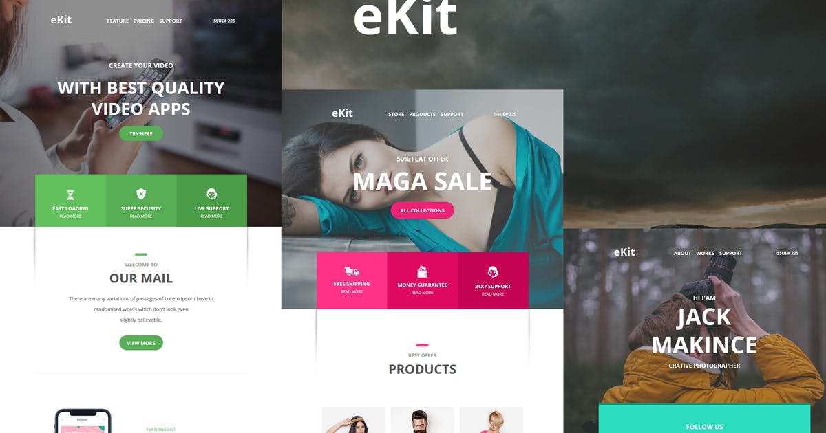 Download eKit Mail 80+ Modules  Email Templates by williamdavidoff