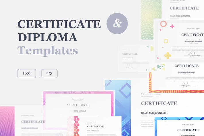 Thumbnail for Certificate & Diploma Keynote Templates