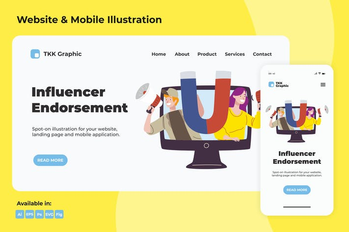 Thumbnail for Influencer Endorsement Web und Mobile
