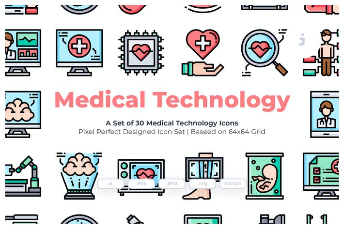Thumbnail for 30 Medical Technology Icons
