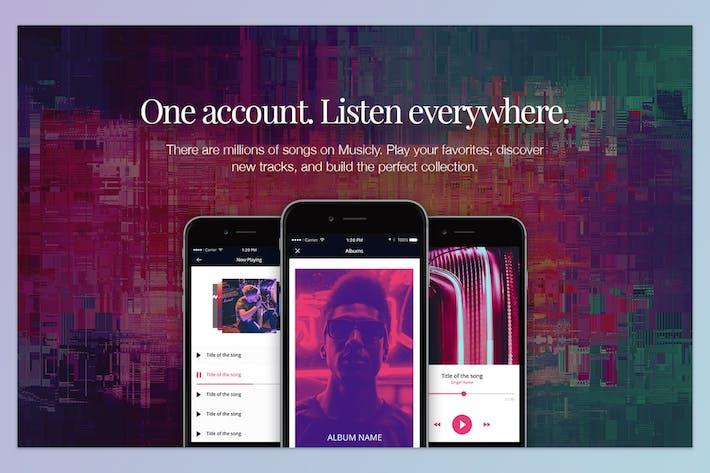 Thumbnail for Music App Landing Hero Header