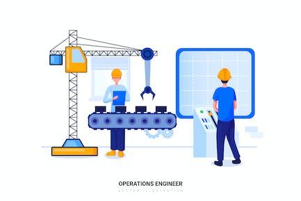 Operations Engineer Vektor Illustration