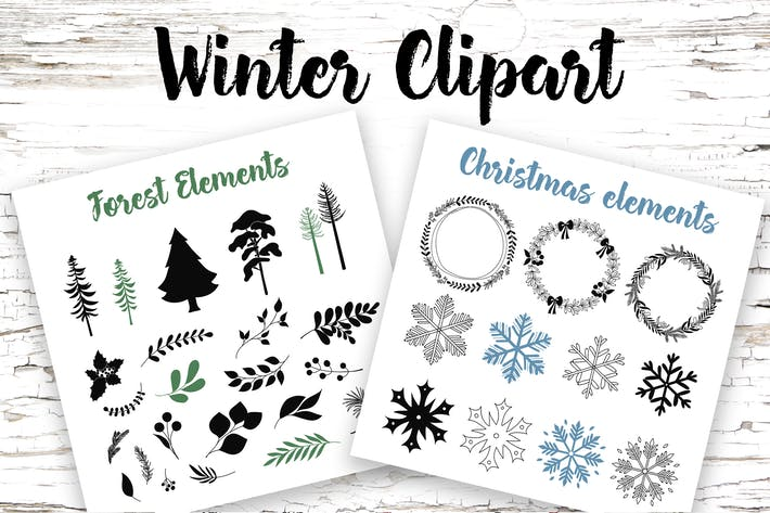 Thumbnail for Winter Elements Clipart