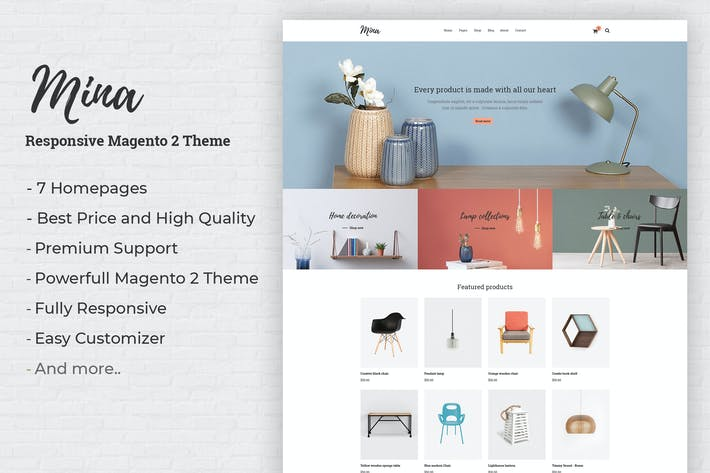 Cover Image For Mina - Responsive Furniture Shop Magento 2 Theme