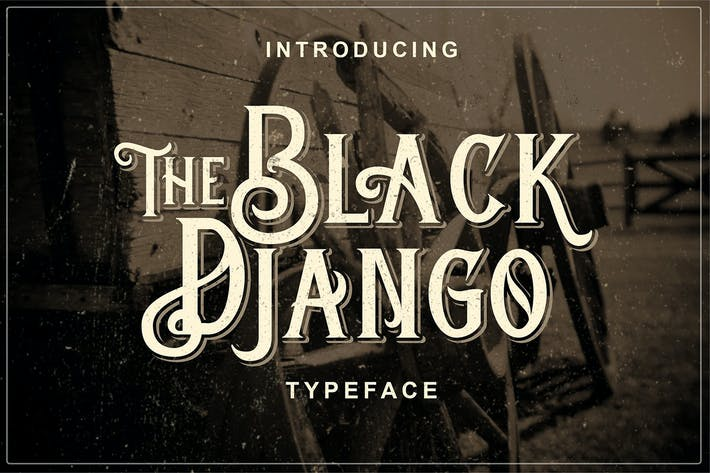 Thumbnail for Black Django - Old Fashioned Font