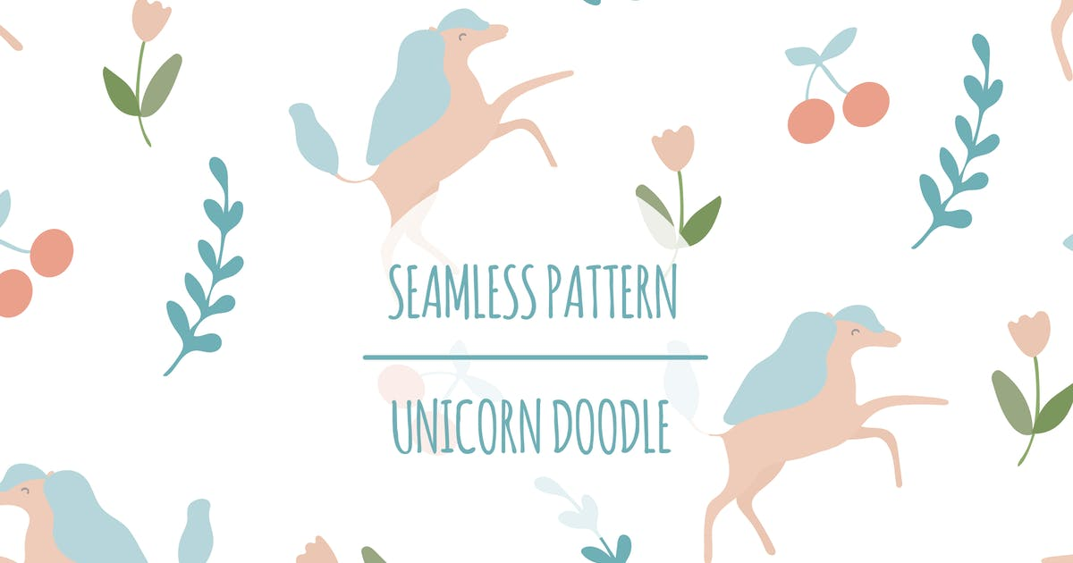 Download Unicorn Doodle – Seamless Pattern by designesto