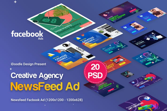 Thumbnail for Creative Agency, Startup, Studio Facebook Newsfeed