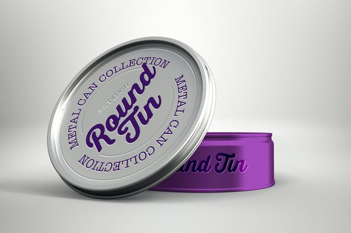 Round Tin Can Packaging Mockups  Vol.3