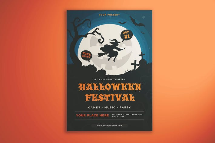Cover Image For Halloween Festival Flyer