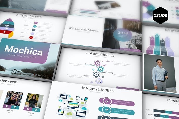 Mochica - Google Slide Template by aqrstudio on Envato Elements