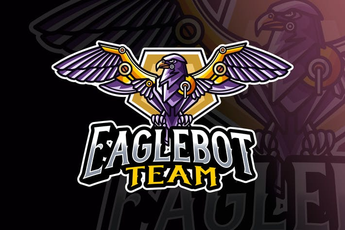 Thumbnail for Eagle Robot Logo Template