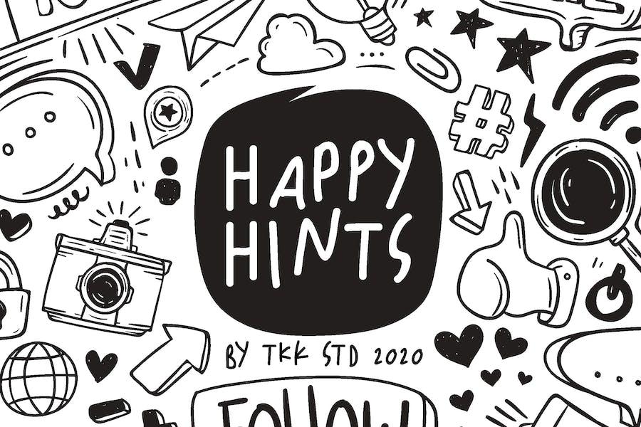 Happy Hints - kids doodle handwriting font