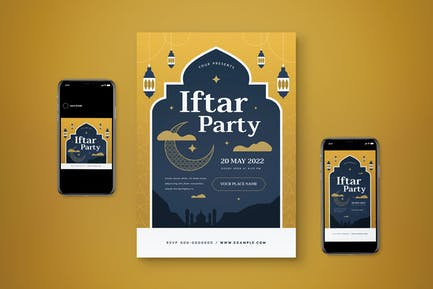Iftar Party Flyer Set