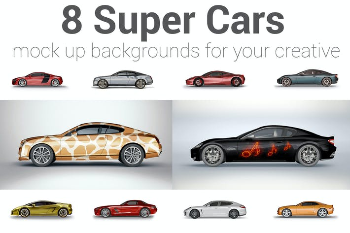 Thumbnail for Super Car Mockup