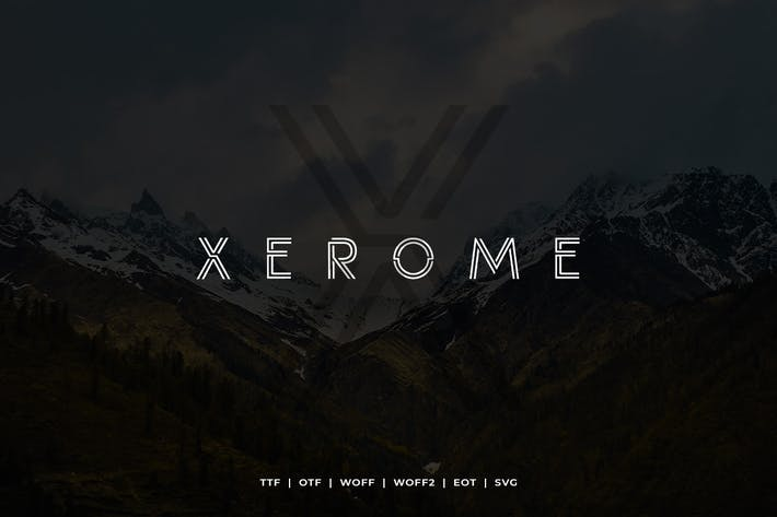 Thumbnail for Xerome Display Typeface with Webfont
