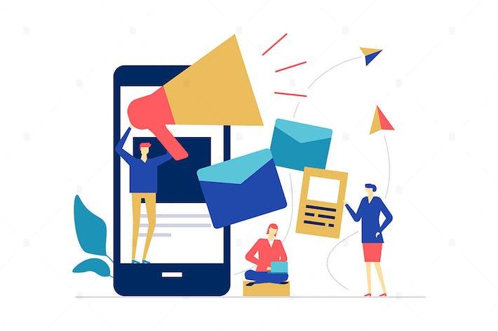 Thumbnail for Digital marketing - flat design style illustration