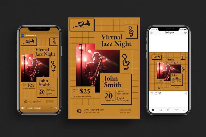 Thumbnail for Virtual Jazz Night Flyer