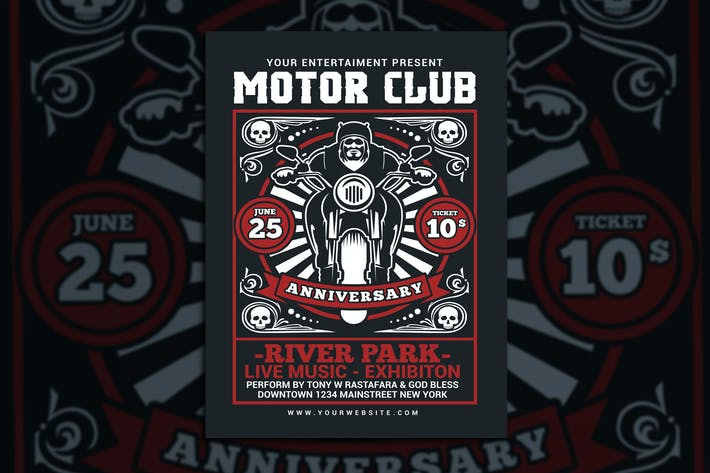 Cover Image For Motorcycle Club Event Flyer