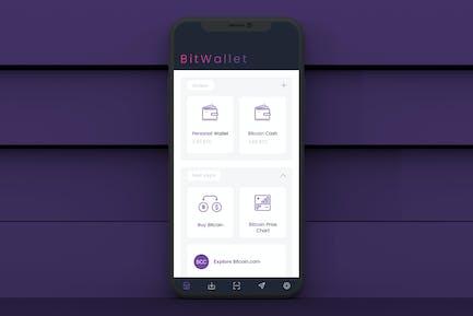 Bitcoin Wallet 1 Mobile Ui - T